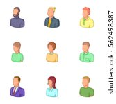 office workers avatars icons... | Shutterstock .eps vector #562498387