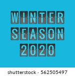 winter season 2020  vector... | Shutterstock .eps vector #562505497