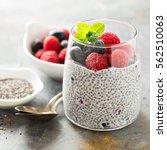 healthy vanilla chia pudding in ... | Shutterstock . vector #562510063