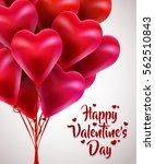 flying bunch of red balloon... | Shutterstock .eps vector #562510843