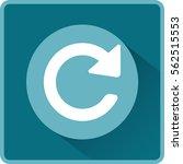 flat vector update icon | Shutterstock .eps vector #562515553