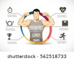 fitness   strong man   gym... | Shutterstock .eps vector #562518733