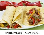 Fresh Burrito With Minced Meat