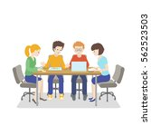 team working. young people... | Shutterstock .eps vector #562523503