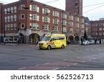 amsterdam  january 2017. yellow ... | Shutterstock . vector #562526713