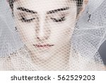 a beautiful girl is in a white... | Shutterstock . vector #562529203