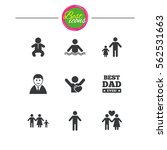 people  family icons. swimming... | Shutterstock .eps vector #562531663