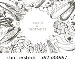 organic food design template.... | Shutterstock .eps vector #562533667