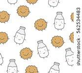 milk and cookies | Shutterstock .eps vector #562534483