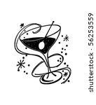 Cocktail Glass - Retro Clip Art   Shutterstock vector #56253559