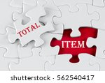 white puzzle with void in the...   Shutterstock . vector #562540417