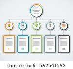 infographic template with 5... | Shutterstock .eps vector #562541593