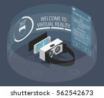 virtual reality glasses with... | Shutterstock .eps vector #562542673