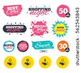 sale shopping banners. special... | Shutterstock .eps vector #562543843