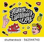 vector trendy sticker set.... | Shutterstock .eps vector #562544743