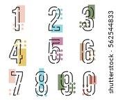 element  set of ten number... | Shutterstock .eps vector #562544833