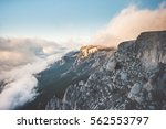 rocky mountains cliff and... | Shutterstock . vector #562553797