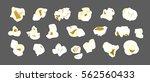 set of popcorn . vector. tasty... | Shutterstock .eps vector #562560433