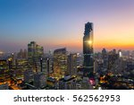 aerial view of bangkok modern...   Shutterstock . vector #562562953