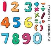 vector set of number | Shutterstock .eps vector #562565623