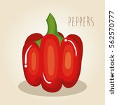 peppers fresh vegetables icon | Shutterstock .eps vector #562570777