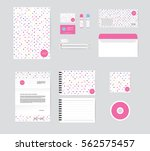 corporate identity template for ... | Shutterstock .eps vector #562575457