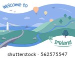 illustration for ireland... | Shutterstock .eps vector #562575547