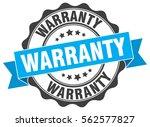 warranty. stamp. sticker. seal. ... | Shutterstock .eps vector #562577827