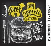 burger food element for... | Shutterstock .eps vector #562580137