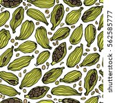 vector seamless pattern with... | Shutterstock .eps vector #562585777