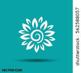 pictograph of flower | Shutterstock .eps vector #562588057