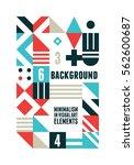 abstract minimal design... | Shutterstock .eps vector #562600687