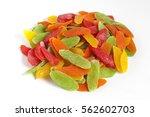 dehydrated pineapple core slice ... | Shutterstock . vector #562602703