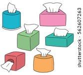 vector set of tissue paper | Shutterstock .eps vector #562607263