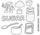 vector set of sugar | Shutterstock .eps vector #562607287