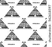 teepee native american summer... | Shutterstock .eps vector #562618597