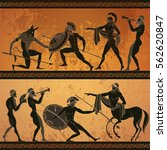 ancient greece banner. black... | Shutterstock .eps vector #562620847