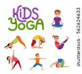 vector concept happy kids...   Shutterstock .eps vector #562624633