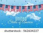 colorful chain  garland ... | Shutterstock .eps vector #562634227