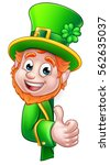 cartoon leprechaun st patricks... | Shutterstock .eps vector #562635037