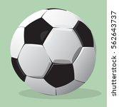 football ball. vector realistic ... | Shutterstock .eps vector #562643737