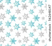 pastel snowflakes blue gray... | Shutterstock .eps vector #562648147