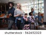 multiethnic startup business... | Shutterstock . vector #562652323