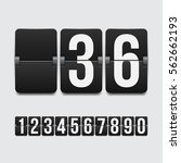 set of numbers on a mechanical... | Shutterstock .eps vector #562662193