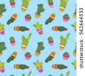 seamless cute pattern with... | Shutterstock .eps vector #562664533