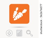 carrot icon. fresh natural... | Shutterstock .eps vector #562676077