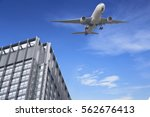 airplane take off over the... | Shutterstock . vector #562676413