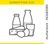 dairy products linear icon.... | Shutterstock .eps vector #562682083
