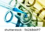 test tubes closeup.medical... | Shutterstock . vector #562686697