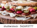 turkish toast ayvalik tostu  ... | Shutterstock . vector #562693777